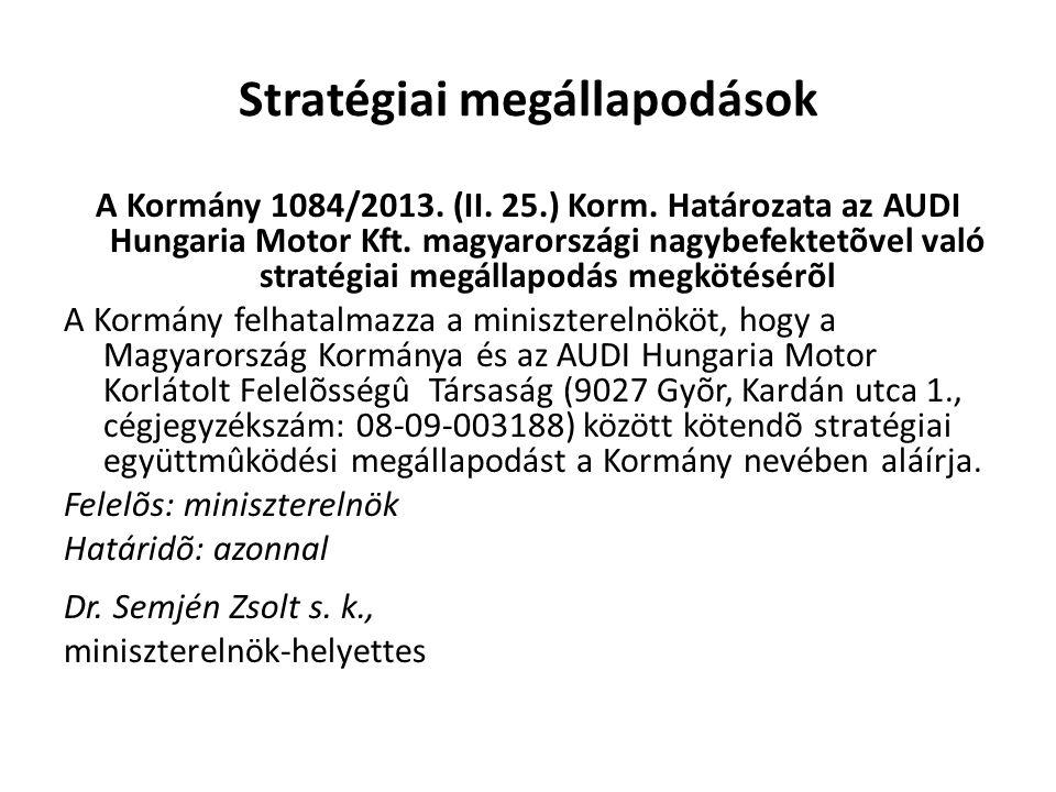 Stratégiai megállapodások