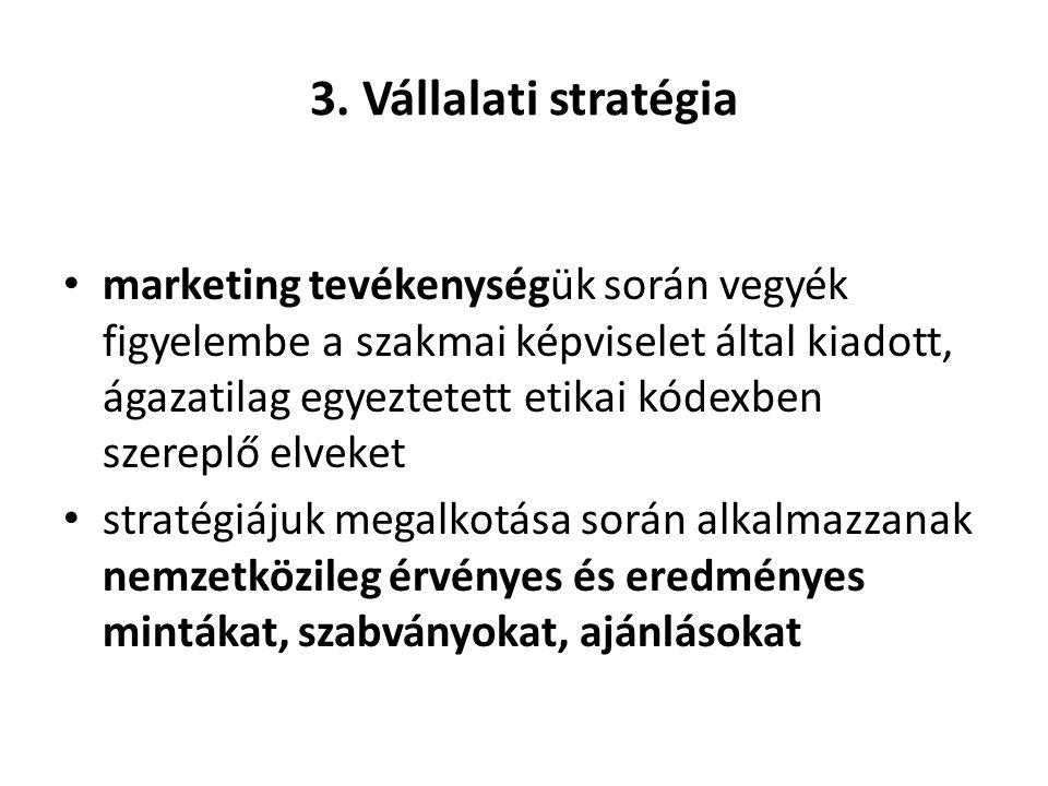 3. Vállalati stratégia