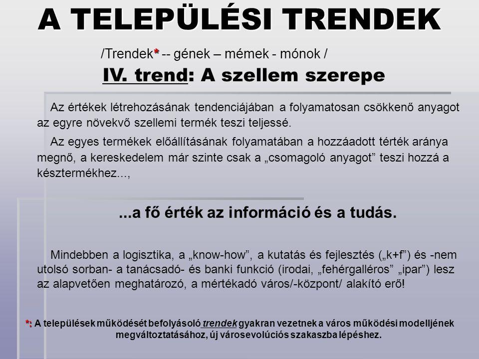 IV. trend: A szellem szerepe