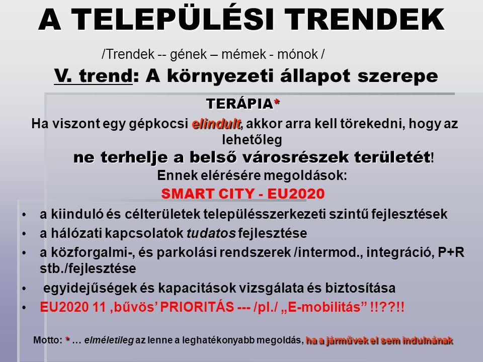 V. trend: A környezeti állapot szerepe