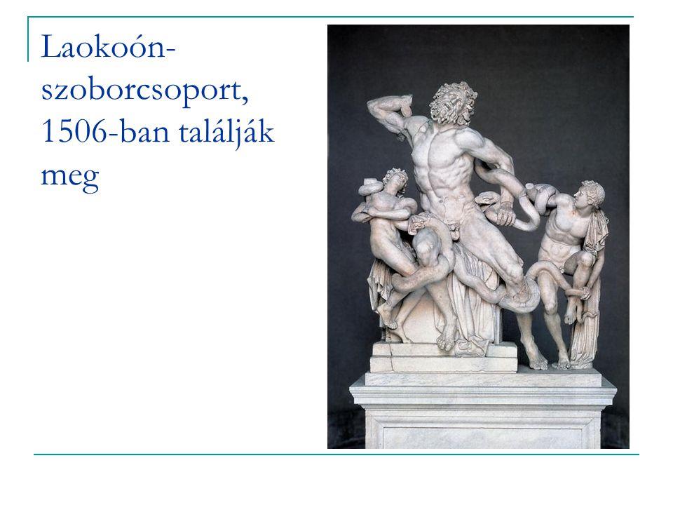 Laokoón-szoborcsoport, 1506-ban találják meg