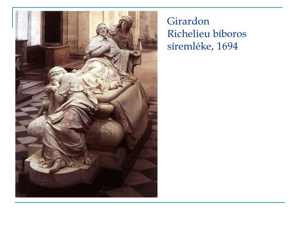 Girardon Richelieu bíboros síremléke, 1694