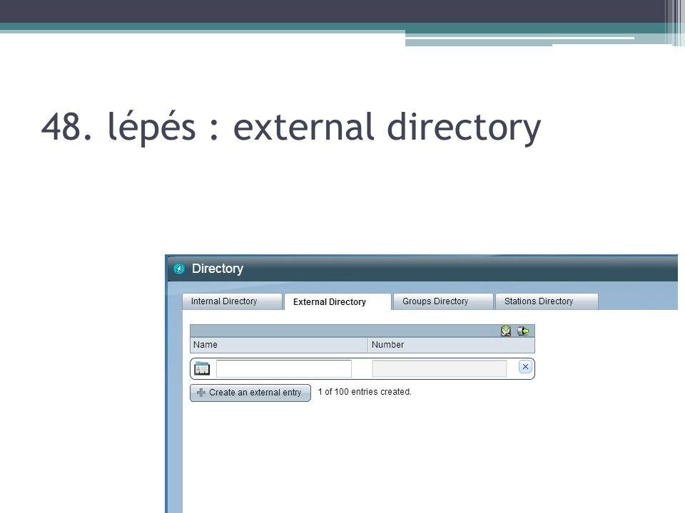 48. lépés : external directory