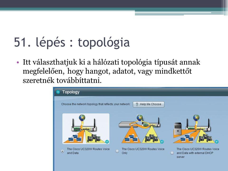 51. lépés : topológia