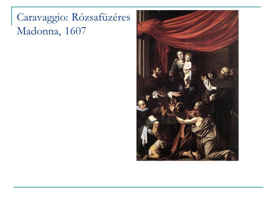 Caravaggio: Rózsafüzéres Madonna, 1607
