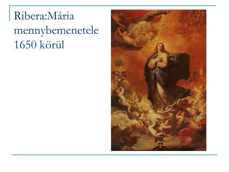 Ribera:Mária mennybemenetele 1650 körül