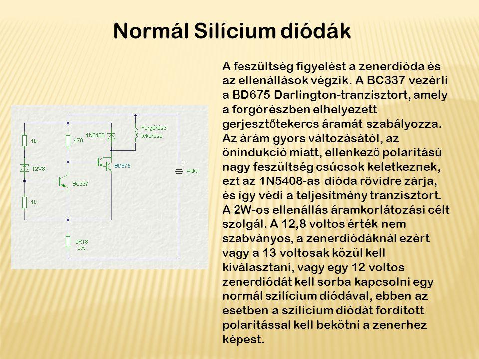 Normál Silícium diódák