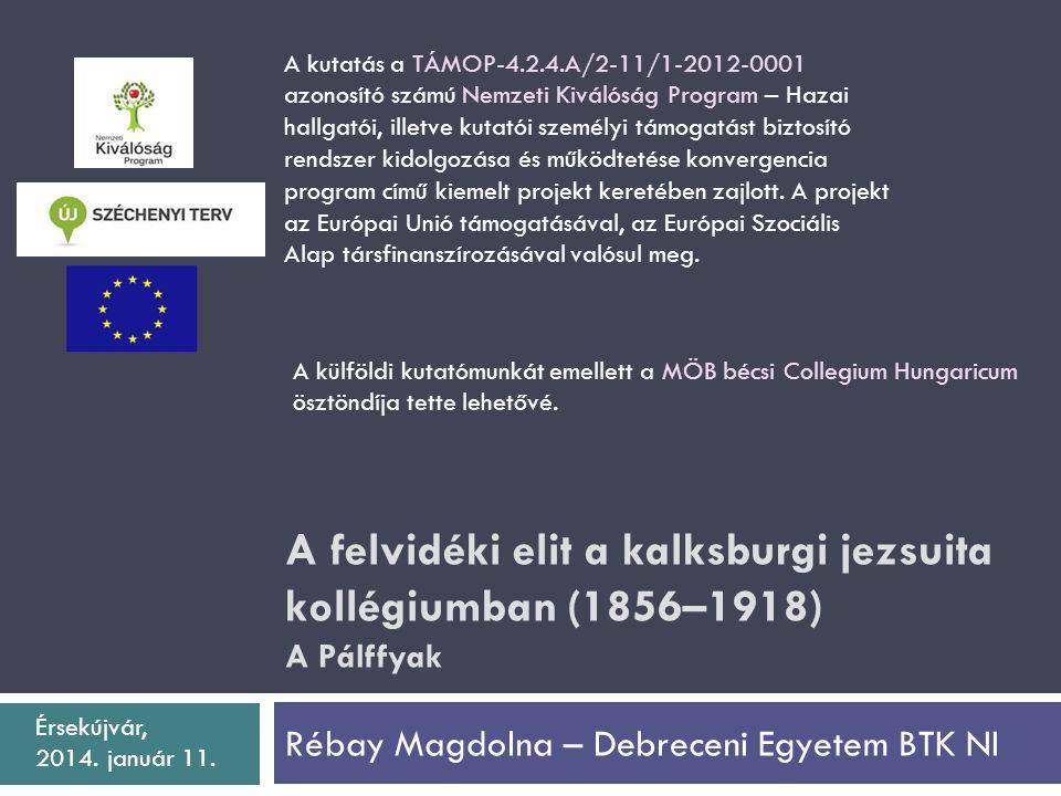 Rébay Magdolna – Debreceni Egyetem BTK NI