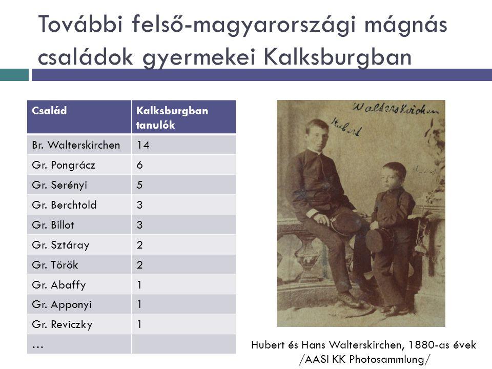 További felső-magyarországi mágnás családok gyermekei Kalksburgban