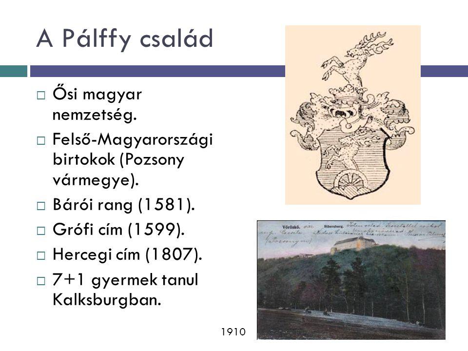 A Pálffy család Ősi magyar nemzetség.