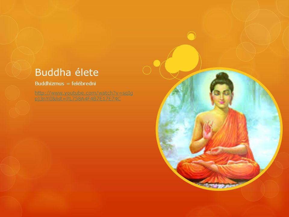 Buddha élete Buddhizmus = felébredni