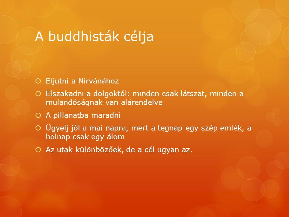 A buddhisták célja Eljutni a Nirvánához