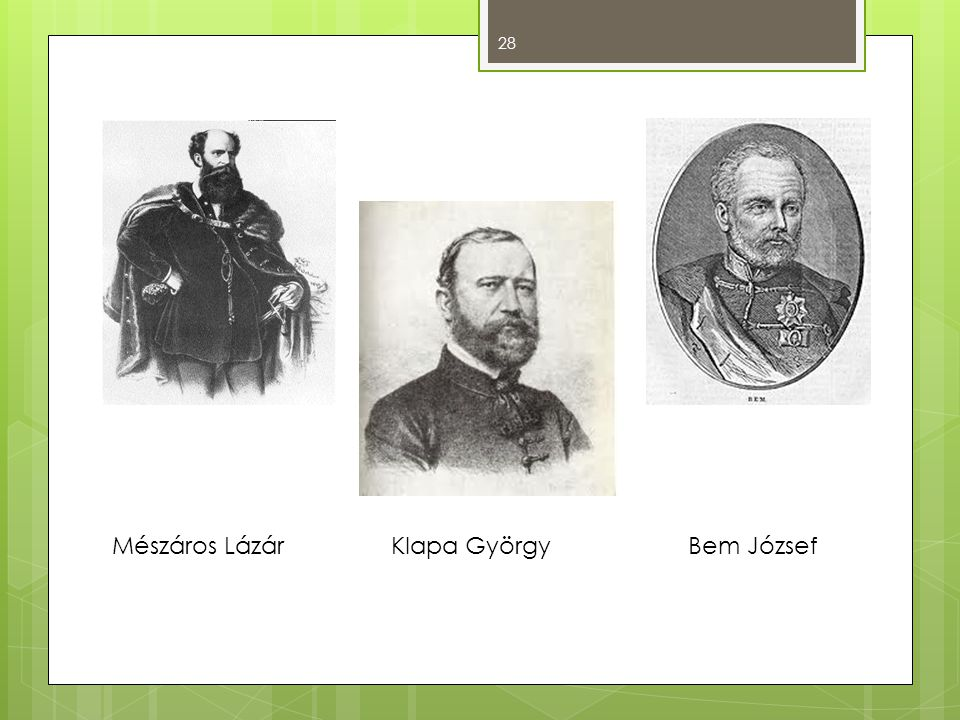 Mészáros Lázár Klapa György Bem József