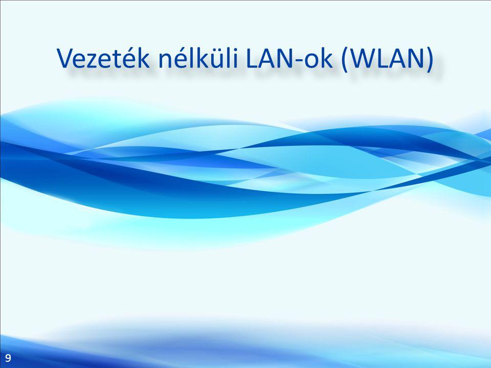 Vezeték nélküli LAN-ok (WLAN)