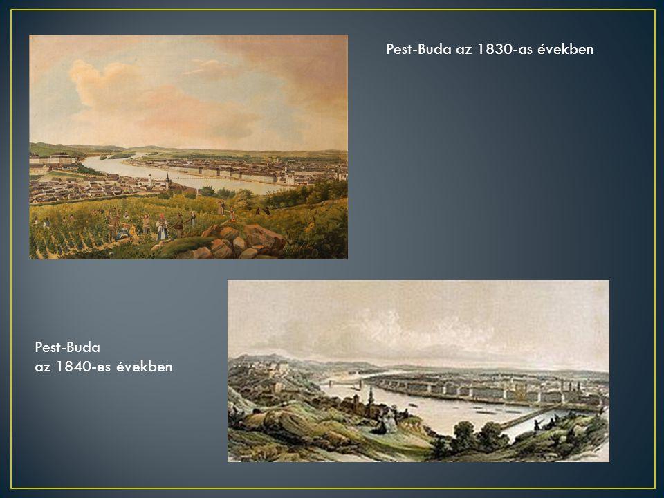 Pest-Buda az 1830-as években