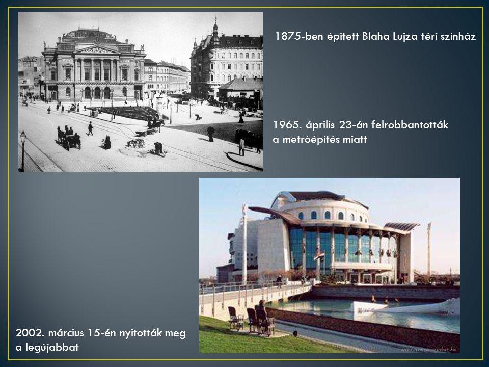 1875-ben épített Blaha Lujza téri színház