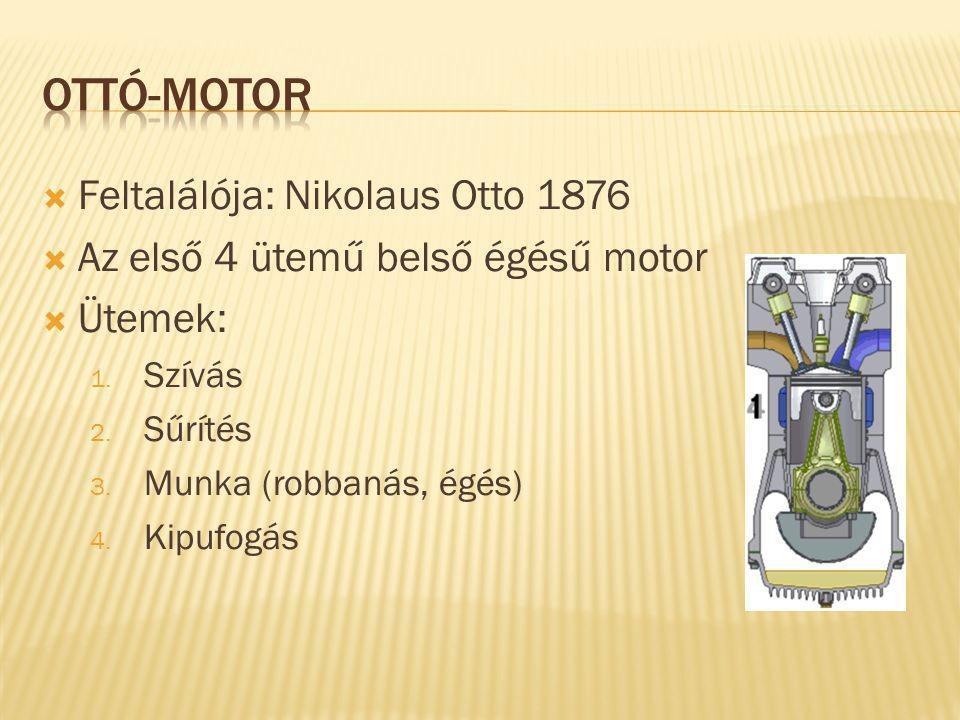 Ottó-motor Feltalálója: Nikolaus Otto 1876