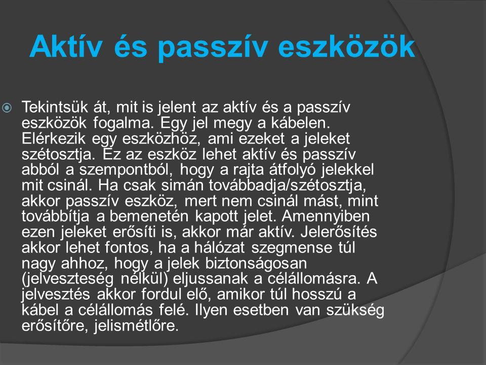 Aktív és passzív eszközök