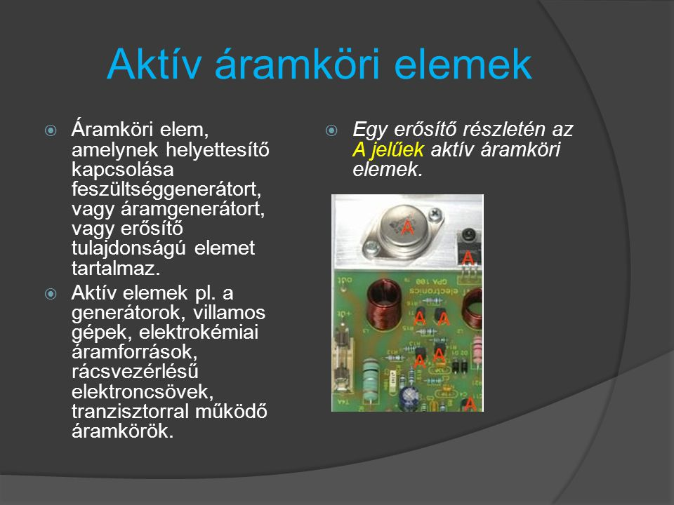Aktív áramköri elemek
