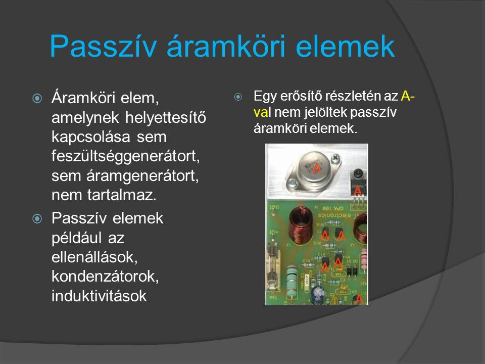 Passzív áramköri elemek