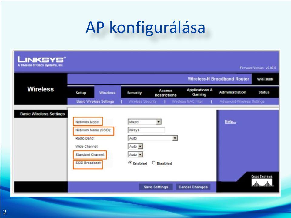 AP konfigurálása