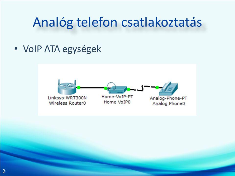 Analóg telefon csatlakoztatás