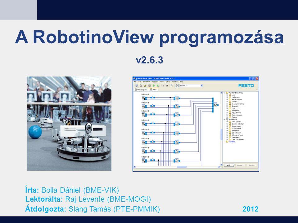 A RobotinoView programozása