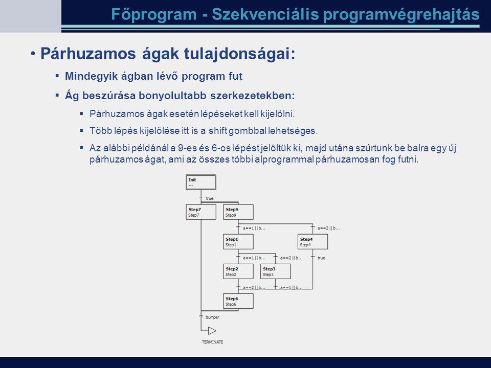 Főprogram - Szekvenciális programvégrehajtás