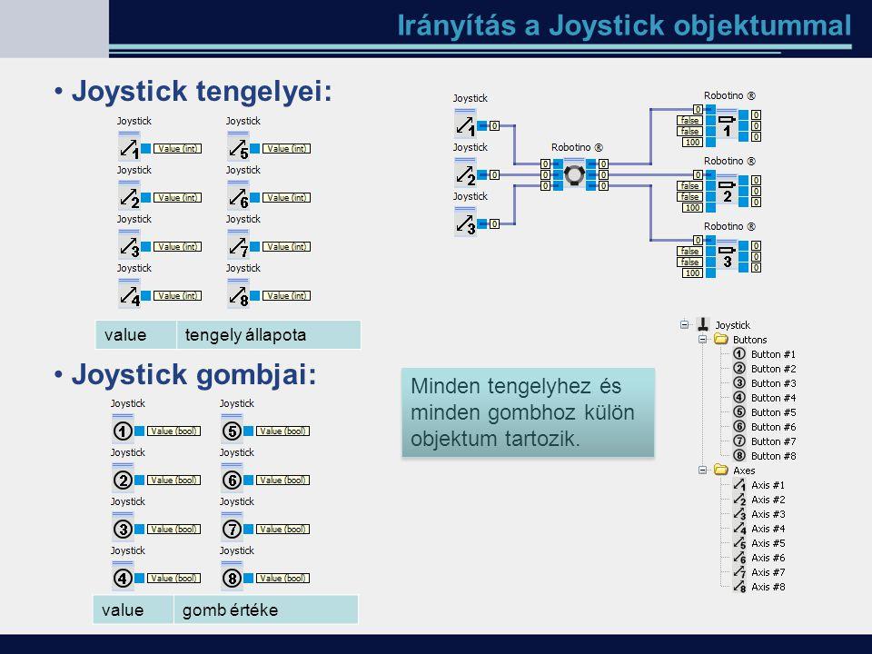 Irányítás a Joystick objektummal