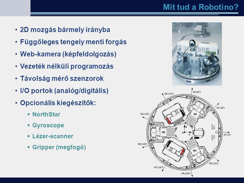 Mit tud a Robotino 2D mozgás bármely irányba