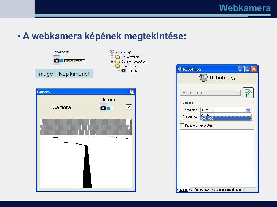A webkamera képének megtekintése: