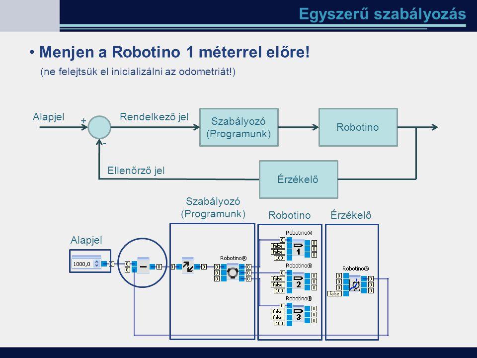 Menjen a Robotino 1 méterrel előre!