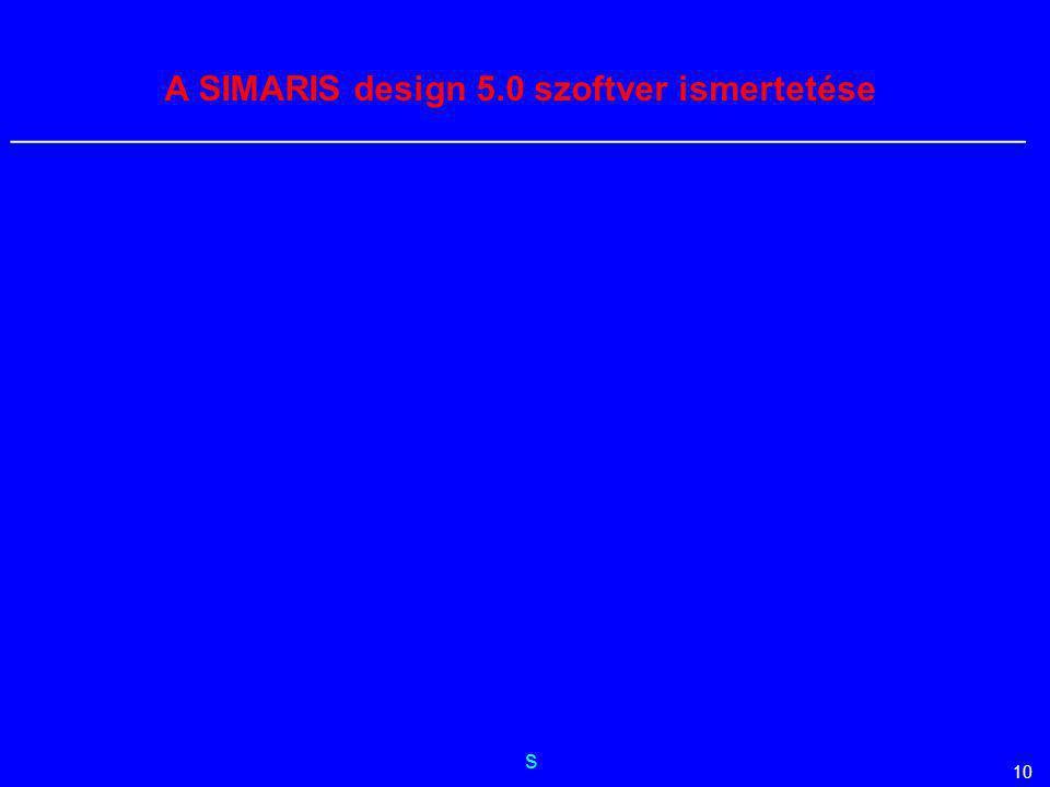 A SIMARIS design 5.0 szoftver ismertetése