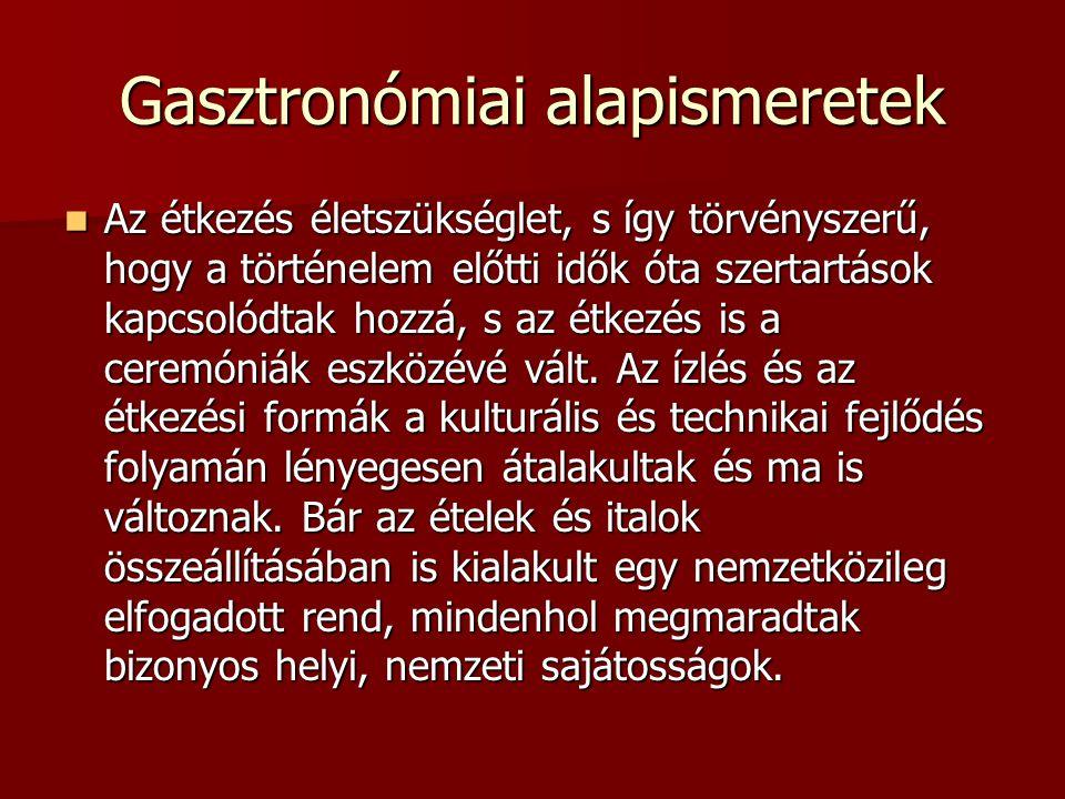 Gasztronómiai alapismeretek