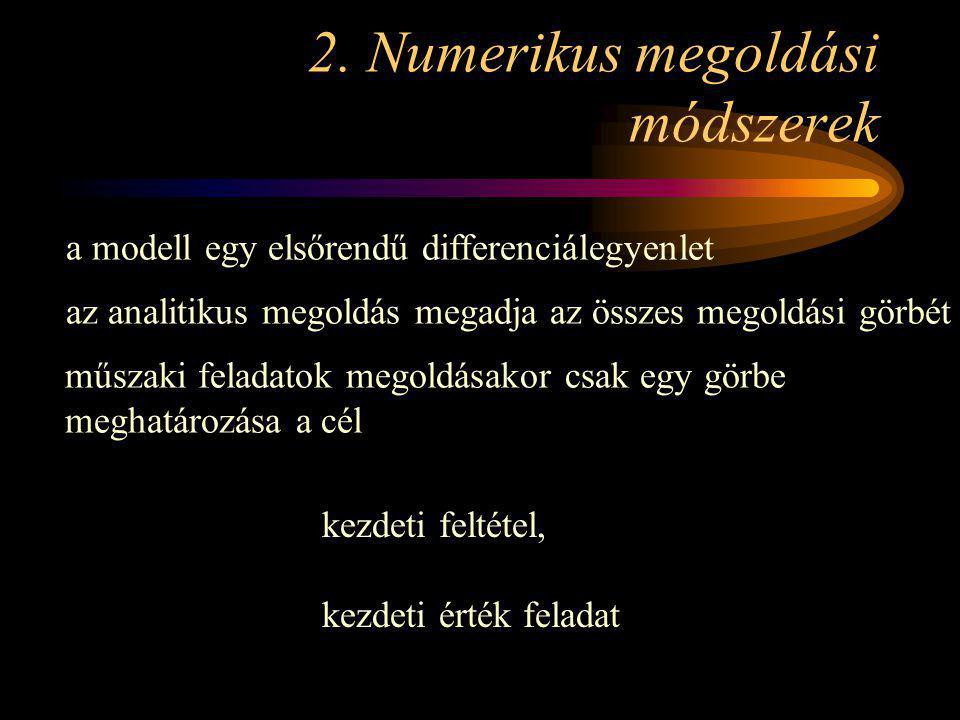 2. Numerikus megoldási módszerek