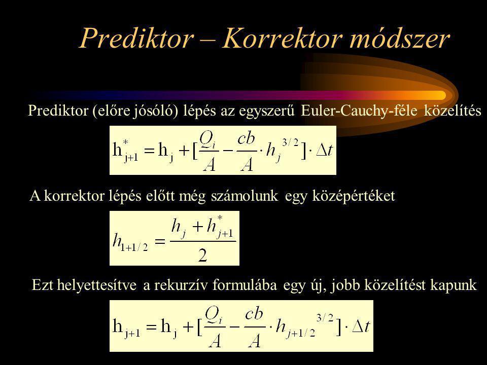 Prediktor – Korrektor módszer