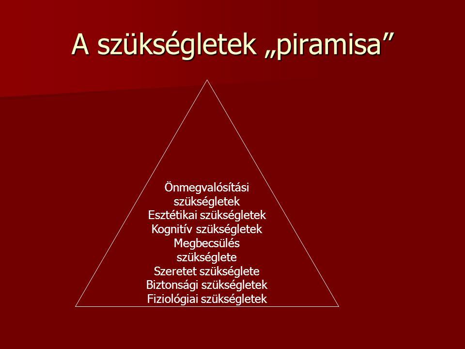 """A szükségletek """"piramisa"""