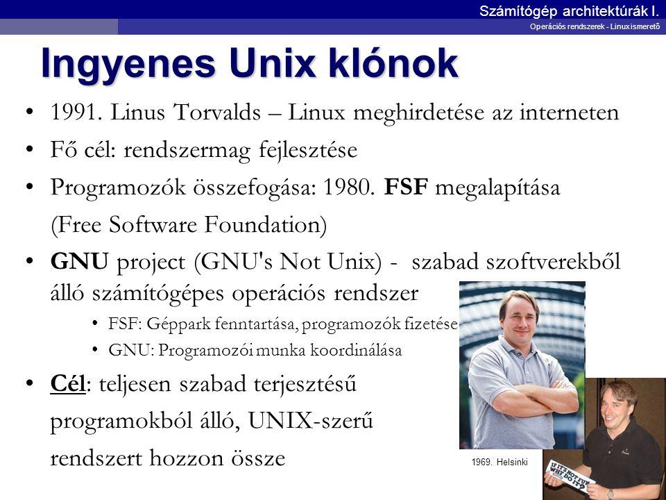 Számítógép architektúrák I.