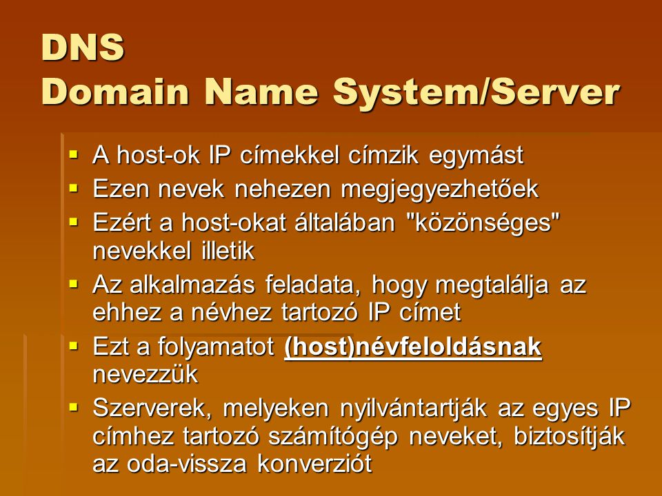DNS Domain Name System/Server