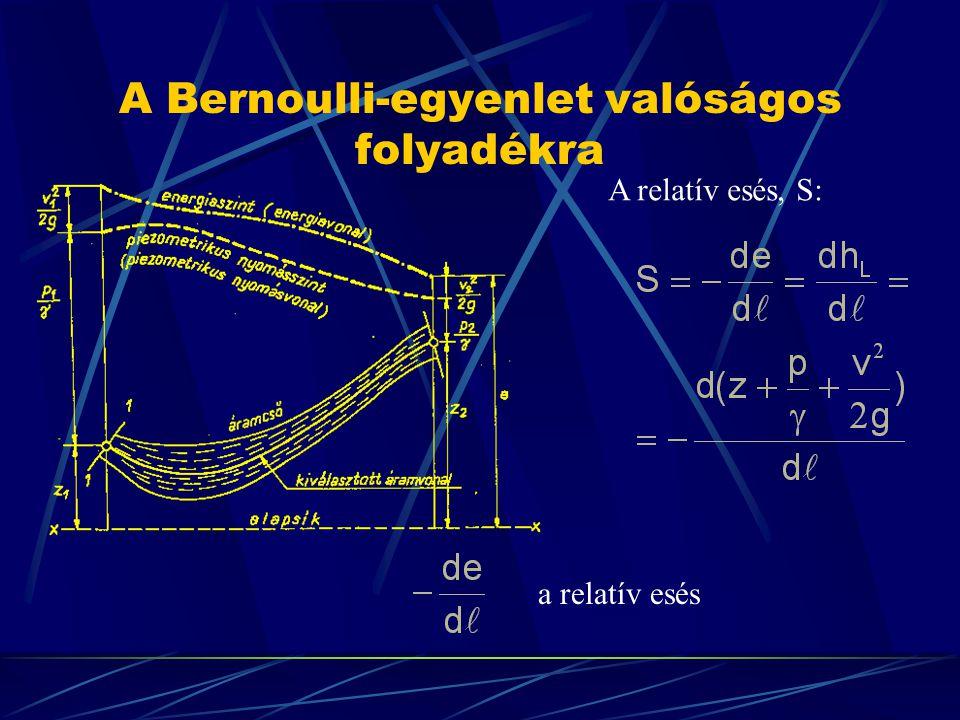 A Bernoulli-egyenlet valóságos folyadékra