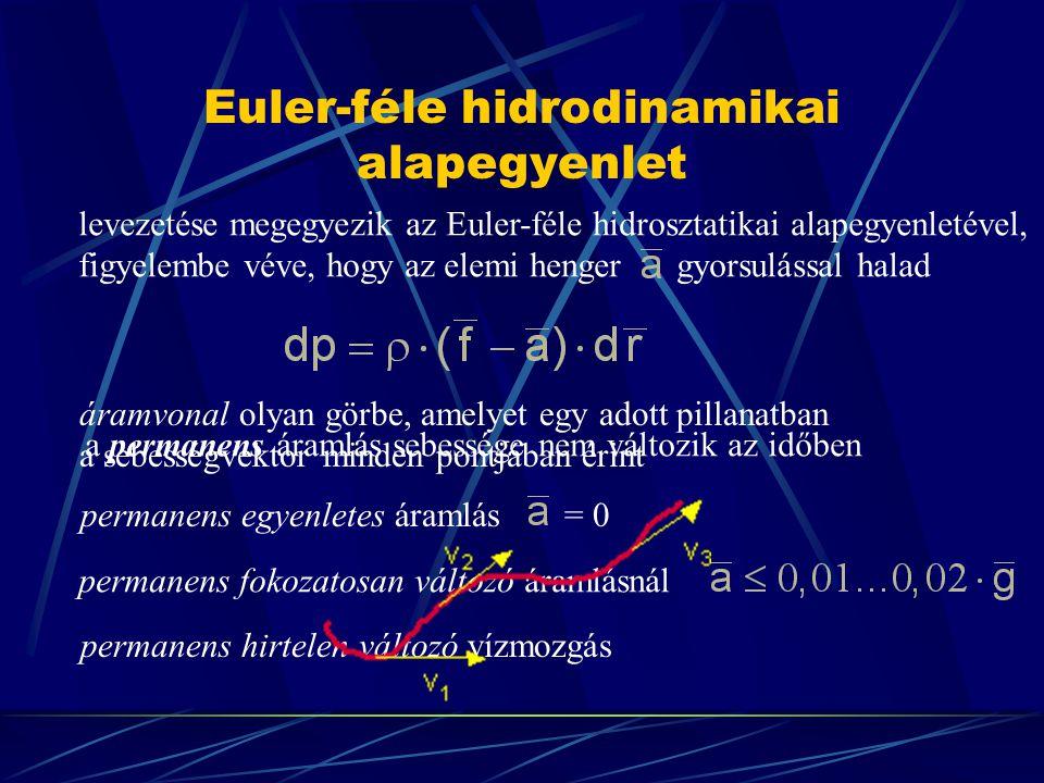 Euler-féle hidrodinamikai alapegyenlet