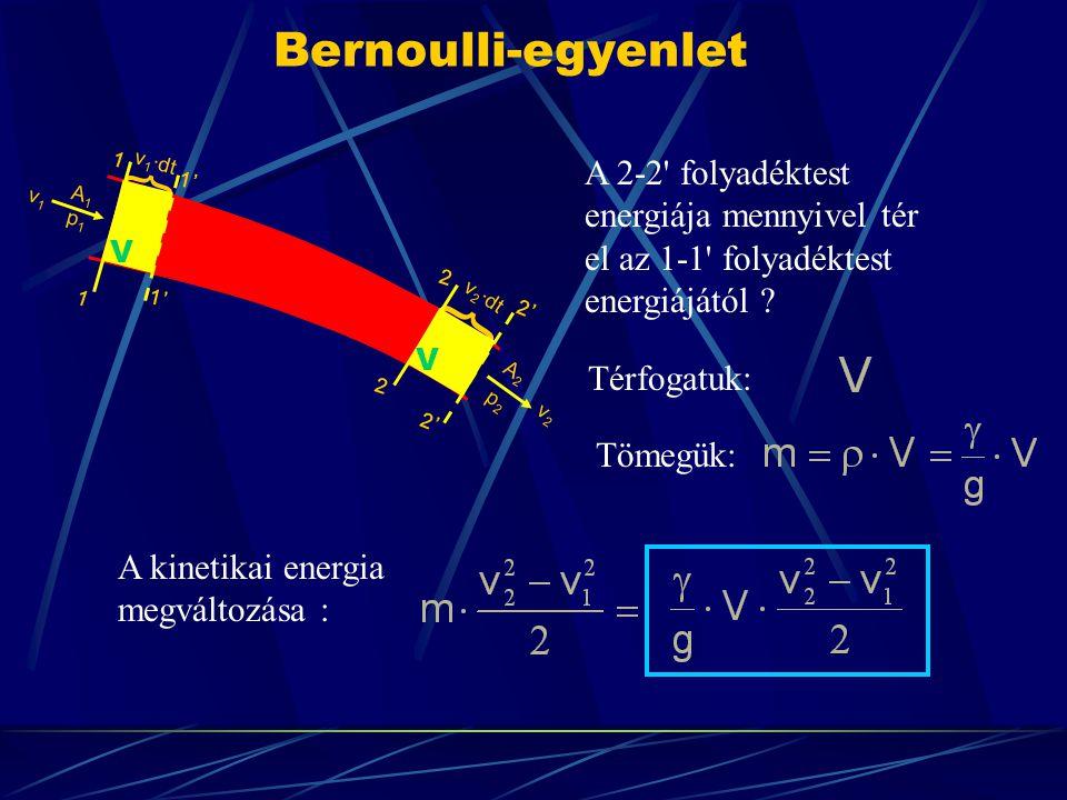 } } Bernoulli-egyenlet A 2-2 folyadéktest