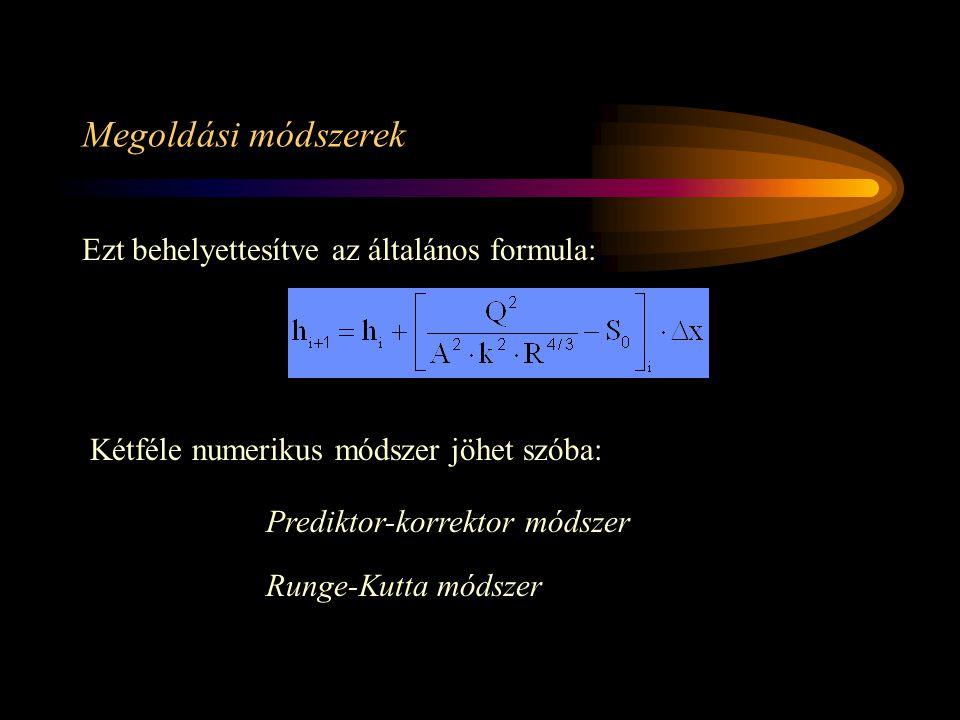 Megoldási módszerek Ezt behelyettesítve az általános formula: