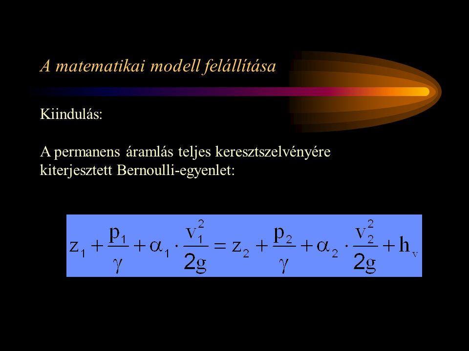 A matematikai modell felállítása