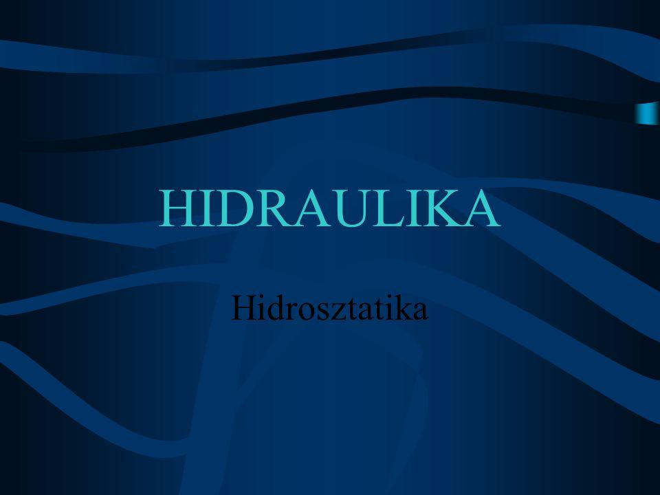 HIDRAULIKA Hidrosztatika