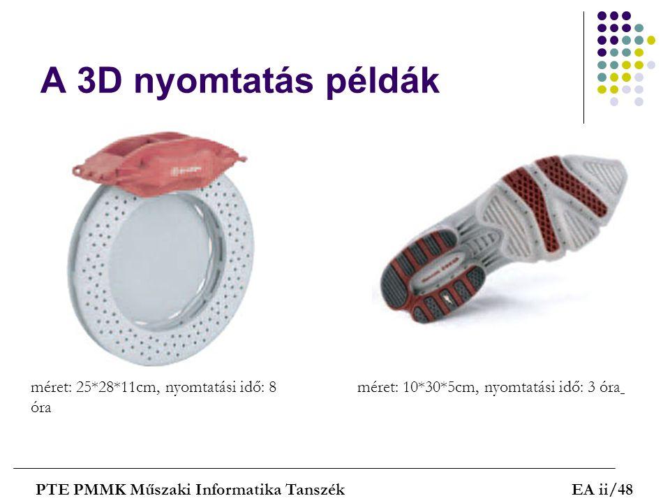 A 3D nyomtatás példák méret: 25*28*11cm, nyomtatási idő: 8 óra