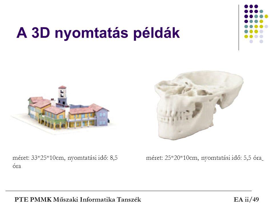 A 3D nyomtatás példák méret: 33*25*10cm, nyomtatási idő: 8,5 óra