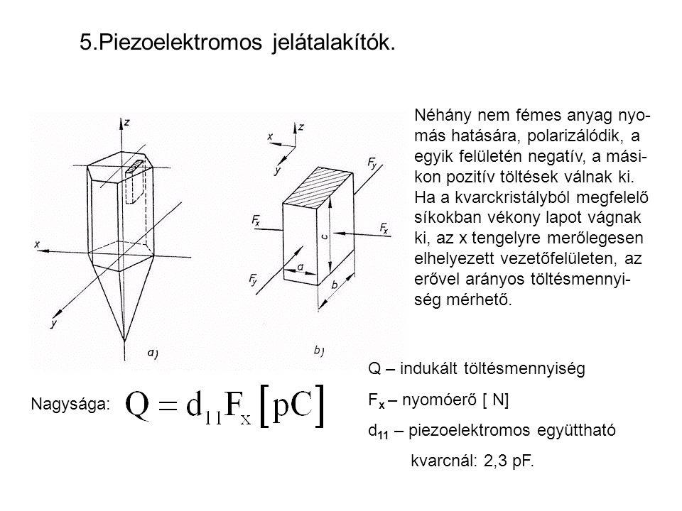 5.Piezoelektromos jelátalakítók.