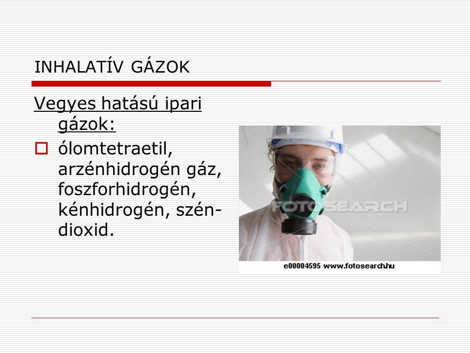 Vegyes hatású ipari gázok: