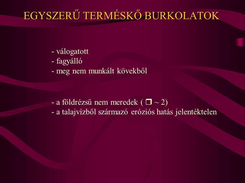 EGYSZERŰ TERMÉSKŐ BURKOLATOK